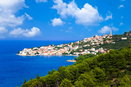 abstact: Town in Croatia - abstact travel background