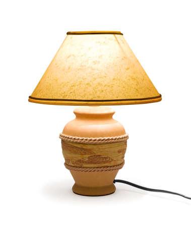 coziness: Lighting home lamp isolated on white background