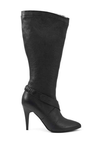 Black woman boot isolated on white background Stock Photo - 5643738