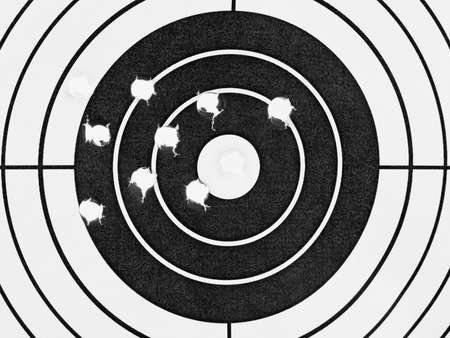 Target with holes - sport background photo