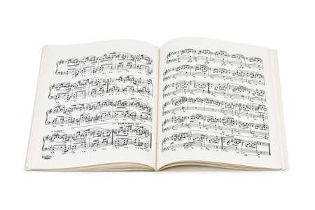 musical score: Music sheet isolated on white background Stock Photo