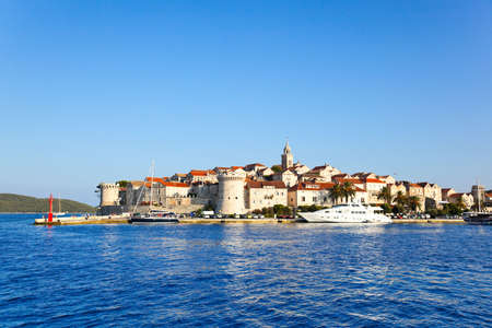 Town Korcula in Croatia - abstact travel background photo