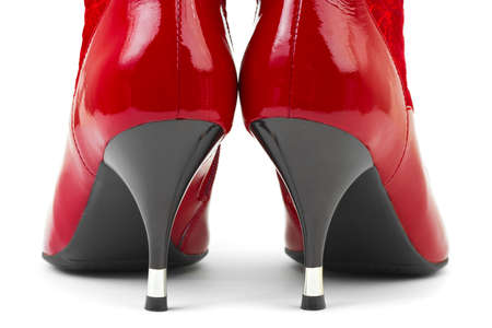 Red woman shoes isolated on white background Stock Photo - 5748812