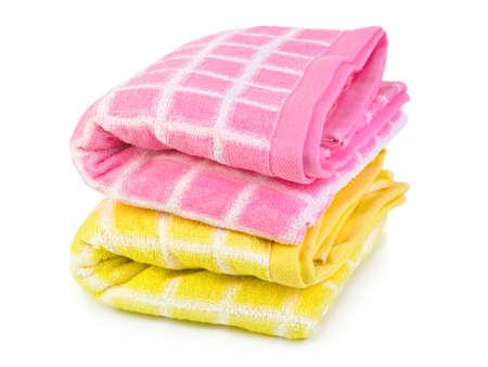 Towels isolated on white background photo