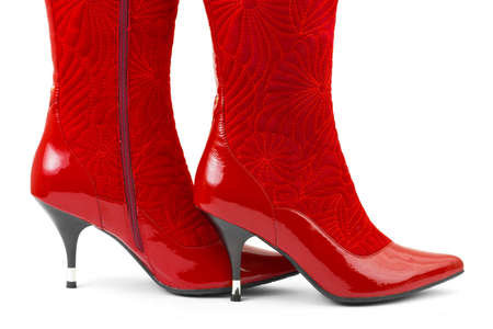 Red woman shoes isolated on white background Stock Photo - 6050866