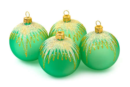 Christmas balls isolated on white background Stock Photo - 6067281