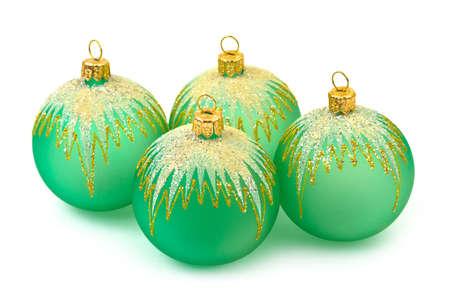 Christmas balls isolated on white background Stock Photo - 6067281