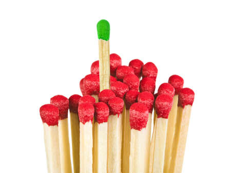 Matches - leadership concept, isolated on white background photo