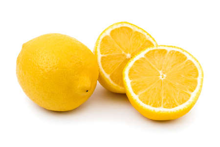 organic lemon: Lemon fruit isolated on white background