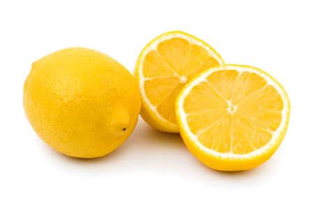 Lemon fruit isolated on white background Stock Photo - 6520935