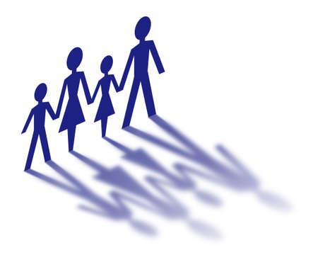 Concept de famille isolé sur fond blanc Banque d'images - 6520986