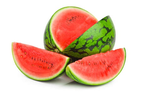 sliced watermelon: Watermelon isolated on white background