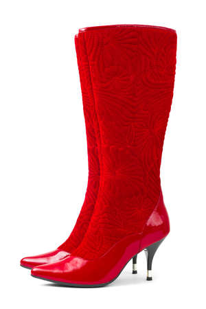 Red woman shoes isolated on white background Stock Photo - 6592130
