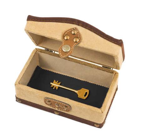 key box: Key in box isolated on white background