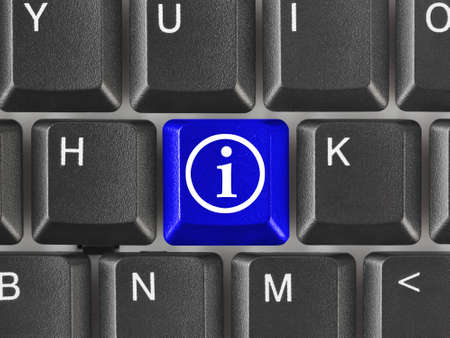 Computer keyboard with information key - internet background photo