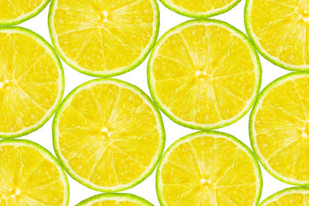 Lime fruit slices - abstract food background photo
