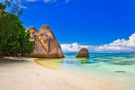 argent: Beach Source dArgent at Seychelles - nature background