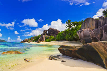 Beach Source d'Argent at Seychelles - nature background Stock Photo - 7019632