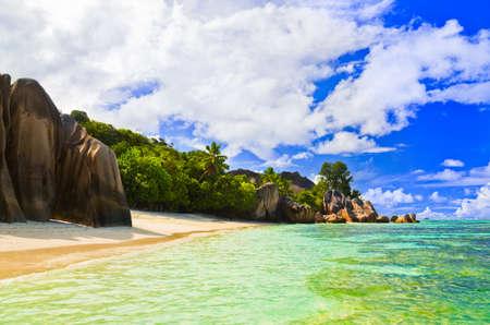 d'argent: Beach Source dArgent at Seychelles - nature background