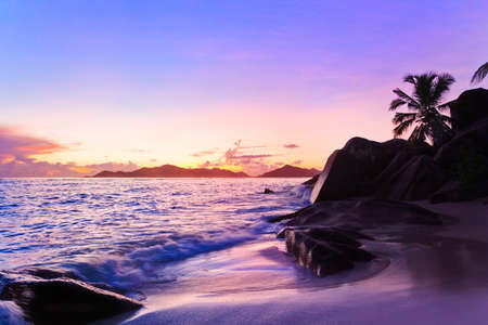 Tropical beach at sunset - nature background Stock Photo - 7199753