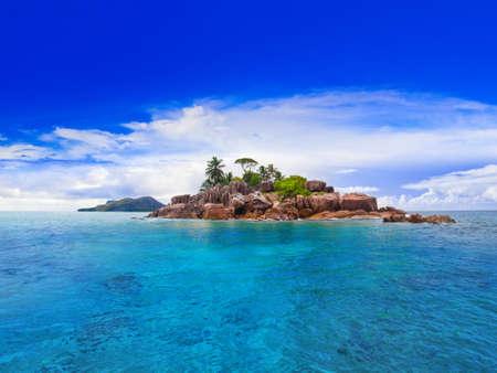 Tropische eiland in de Seychellen - natuur-achtergrond