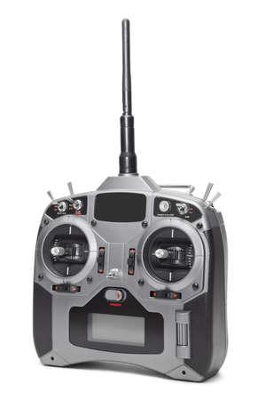 Radio remote control isolated on white background photo