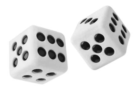 Gambling dices isolated on white background Stock Photo - 7419169