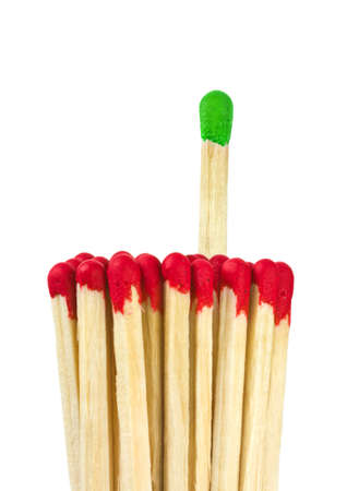 Matches - leadership concept isolated on white background Stock Photo - 7474439