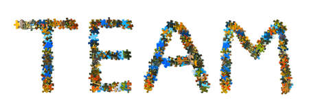 Word Team made of puzzle isolated on white background Stock Photo - 7474453