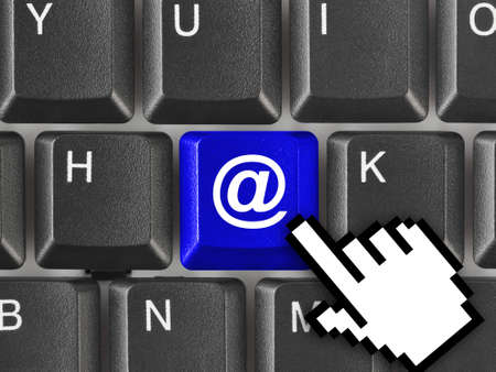 Computer keyboard with e-mail key - internet concept Stock Photo - 7646184