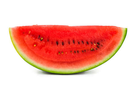 Watermelon slice isolated on white background photo