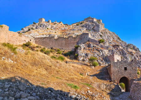 Old fort in Corinth, Greece - archaeology background photo