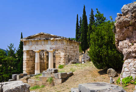 Ruins of the ancient city Delphi, Greece - archaeology background Stock Photo - 7716290
