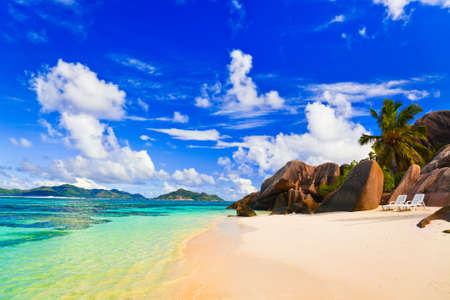 d'argent: Beach Source dArgent at Seychelles - vacation background