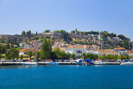 Town Nafplion and castle, Greece - travel background photo