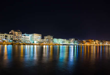 City Loutraki in Greece at night - travel background Stock Photo - 7835401