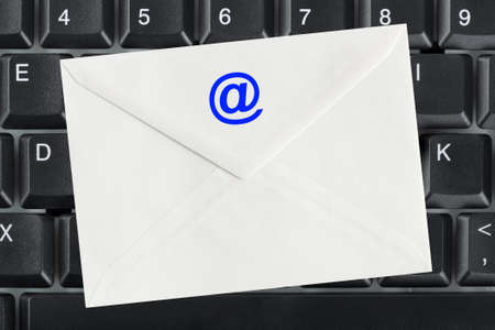 Computer keyboard and e-mail letter - business background Stock Photo - 7854891