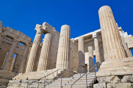 Entrance to Acropolis at Athens, Greece - travel background photo