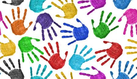 manos sucias: Fondo de manos sin problemas aislado en blanco - concepto de trabajo en equipo