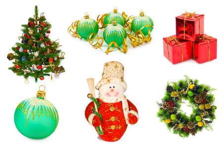 Christmas set isolated on white background Stock Photo - 7967522