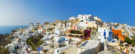 Santorini view (Oia), Greece - vacation background photo