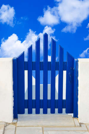 Door and cloudy sky  - nature background Stock Photo - 8053236