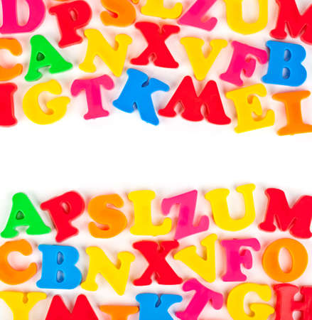 Multicolored toy letters - abstract education background Stock Photo - 8053249