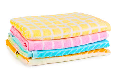 Towels - isolated on a white background photo