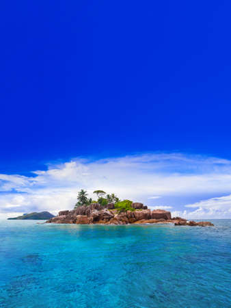 Tropical island at Seychelles - nature background Stock Photo