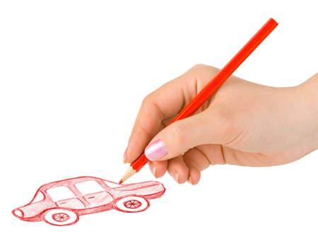 Hand drawing car isolated on white background Stock Photo - 8249804