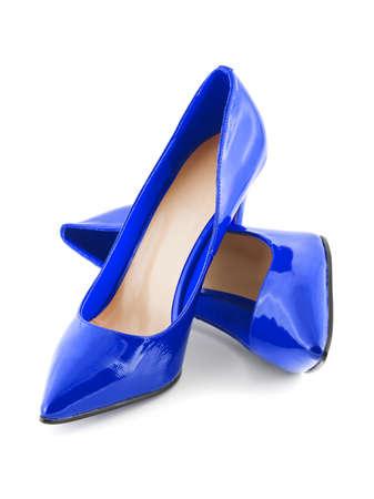 Blue shoes isolated on white background Stock Photo - 8325314