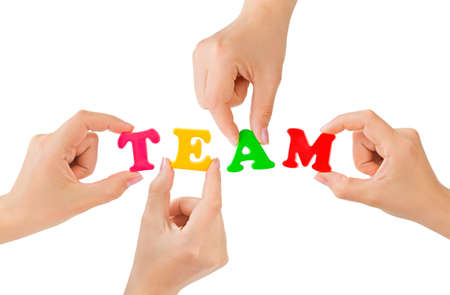 team strategy: Hands and word Team - teamwork business concept