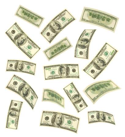 Falling money isolated on white background Stock Photo - 8403739