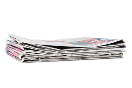 Stack of newspapers isolated on white background Stock Photo - 8403765